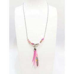 Collier motif acier Beads